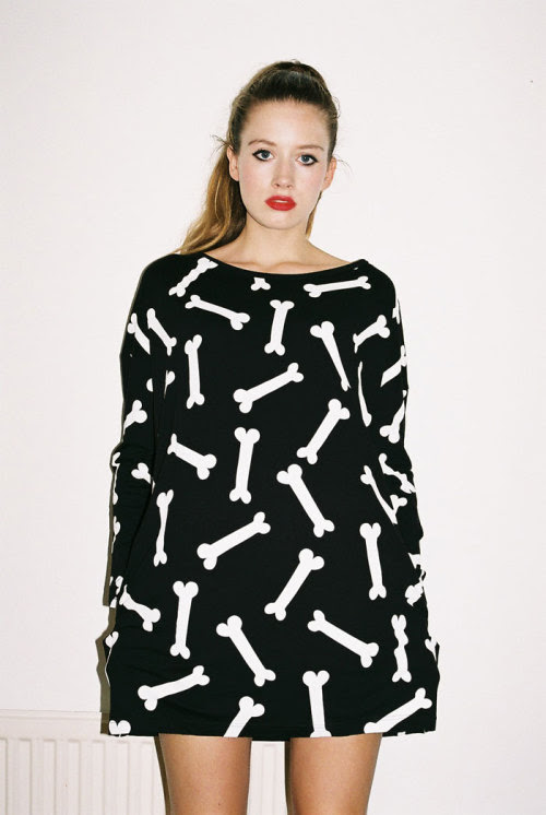 Who needs to buy a Halloween costume when you have Lazy Oaf eh? This bones dress even has pockets to store all of your treats or tricks.