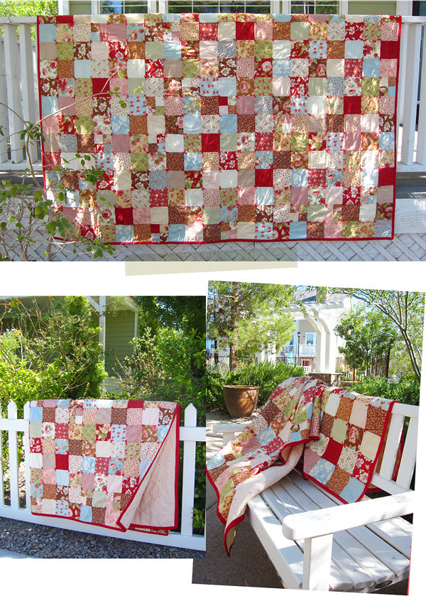 first quilt collage