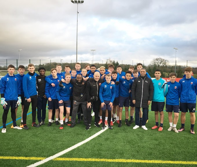 Jon Whitney Coaching at St George's Park as Part of UEFA License Course