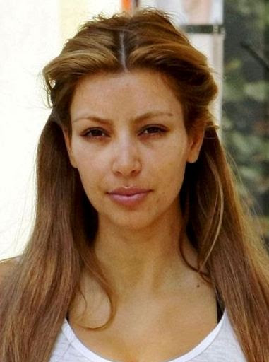 Kim Kardashian no makeup on  Sassy Dove