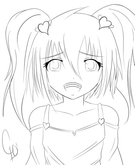 cute anime girl  chuloc  deviantart