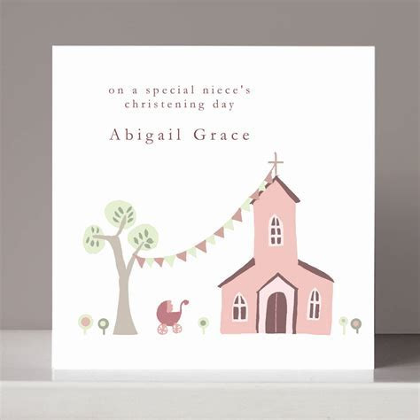 personalised christening card for girl or boy by molly moo
