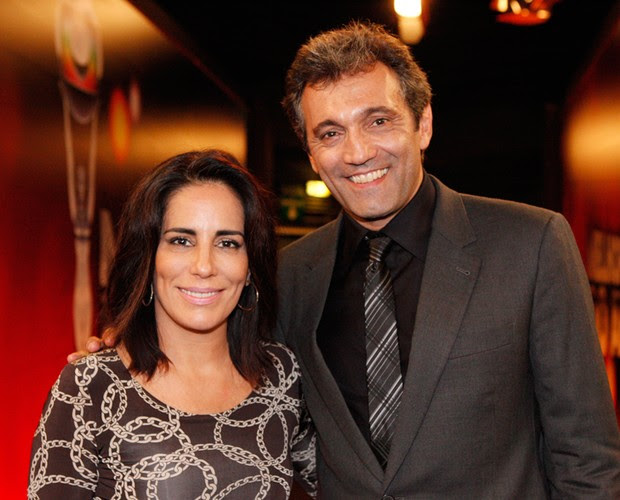 Gloria Pires e Domingos Montagner (Foto: Domingão do Faustão / TV Globo)