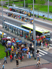 Using public transport en masse