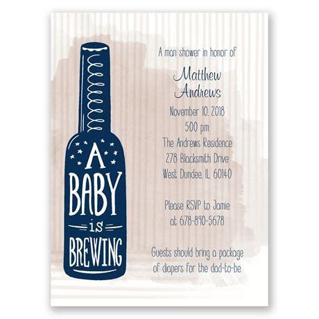 Baby Brewing Petite Baby Shower Invitation   Invitations