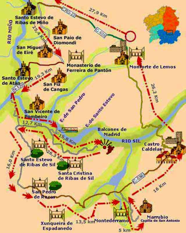 Resultado de imagen de mapa ribeira sacra ourense