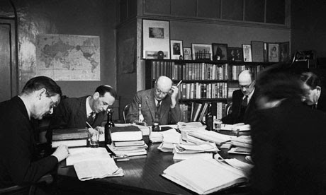A meeting of the board of directors at publishing house Faber & Faber