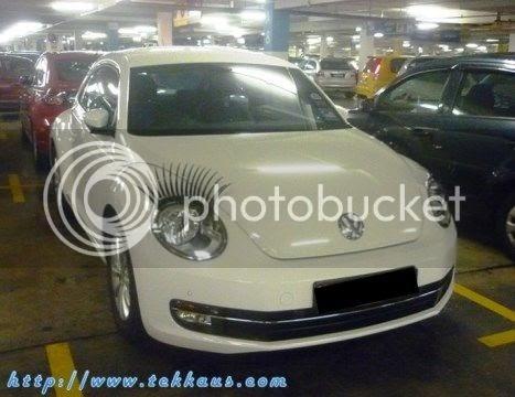 Volkswagen Beetle With Eyelashes - Tekkaus   Lifestyle ...