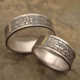 STERLING SILVER WEDDING BAND SETS : WEDDING BAND SETS
