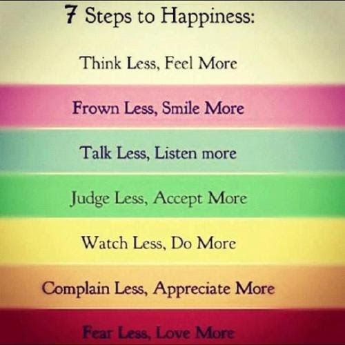 Inspirational Quotes, 7 Steps to Happiness