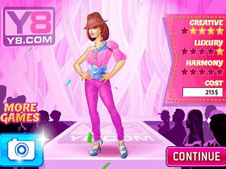 Play Famous Fashion Designer game online   Y8.COM