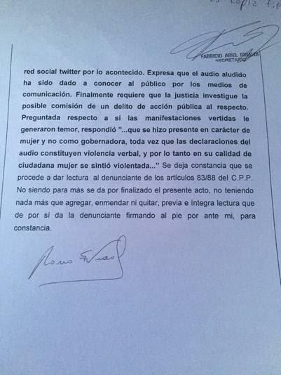 La denuncia de María Eugenia Vidal contra el concejal K que la amenazó.