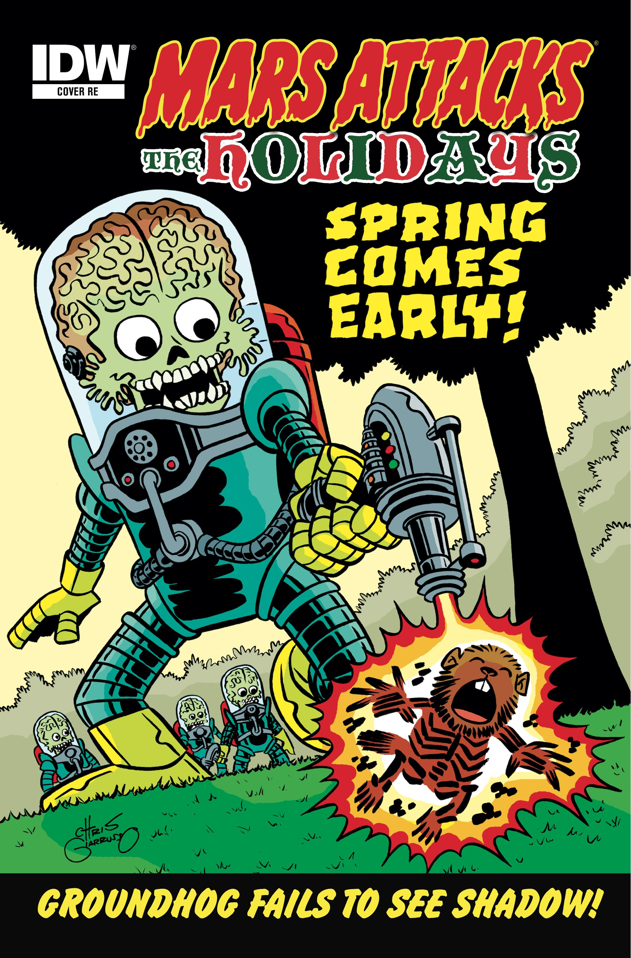 [Mars Attacks The Holidays NYCC Exclusive Cover]