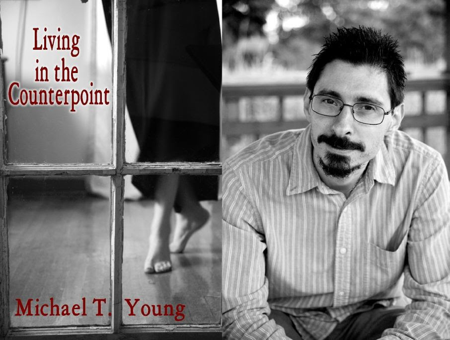 """Living in Counterpoint"" (L), Author Michael T. Young (R)"