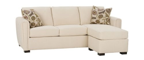 Ambrose designer style fabric upholstered apartment - Apartment size sofa with chaise ...