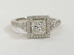 Platinum Verragio ENG 0379 Square Halo Diamond Engagement