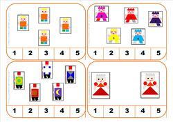 cartes à compter le tout petit roi