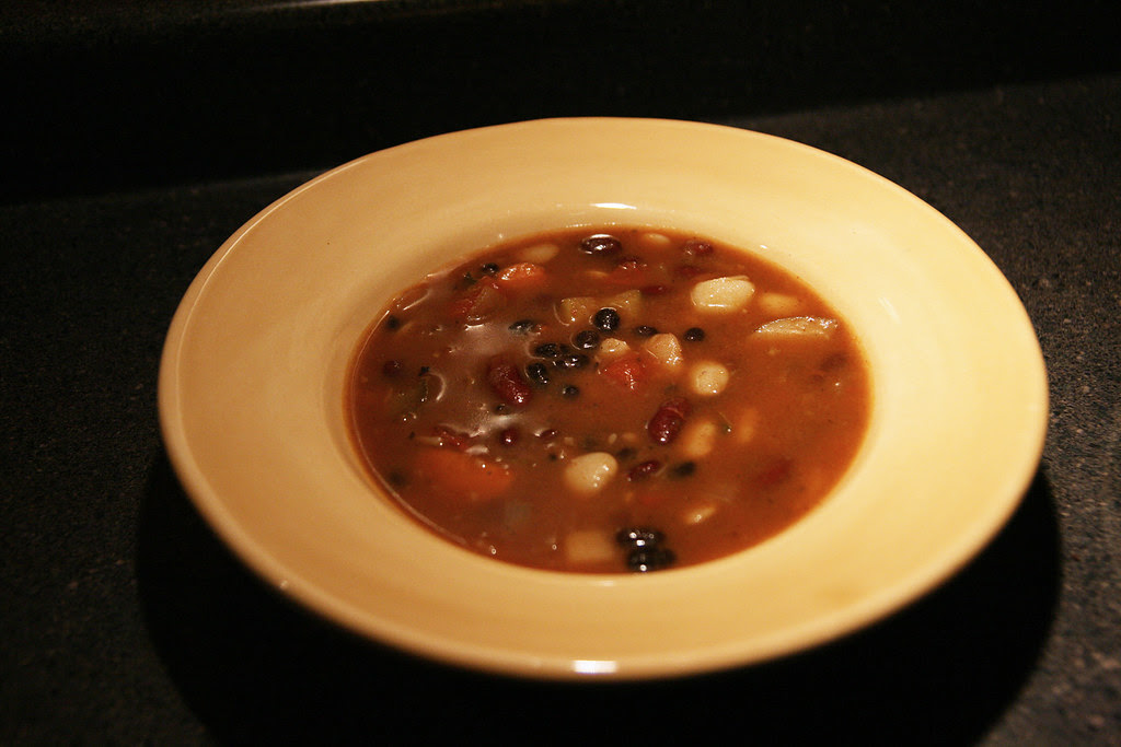 spicy 3-bean soup