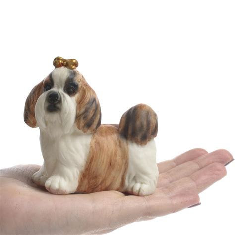 Small Shih Tzu Dog Figurine   Table Decor   Home Decor