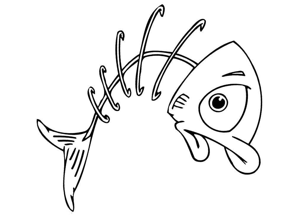 Elegante Desenhos Para Colorir E Imprimir Peixes