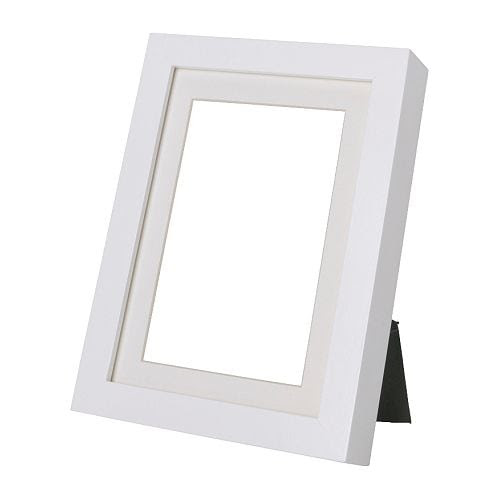 """RIBBA Frame, white Width: 9 """" Height: 11 """" Picture, width: 8 """" Picture, height: 10 """" Mat inside meas. W: 7 """" Mat inside meas. H: 5 """"  Width: 23 cm Height: 27 cm Picture, width: 20 cm Picture, height: 25 cm Mat inside meas. W: 17 cm Mat inside meas. H: 12 cm"""