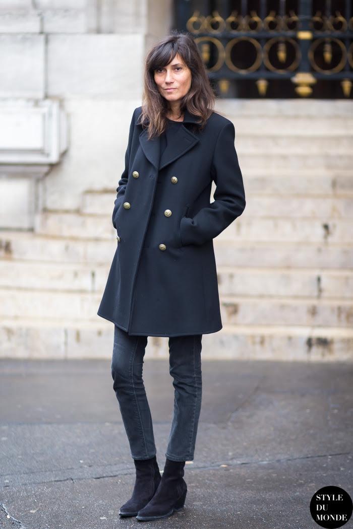 Emmanuelle Alt Street Style Street Fashion Streetsnaps by STYLEDUMONDE Street Style Fashion Blog