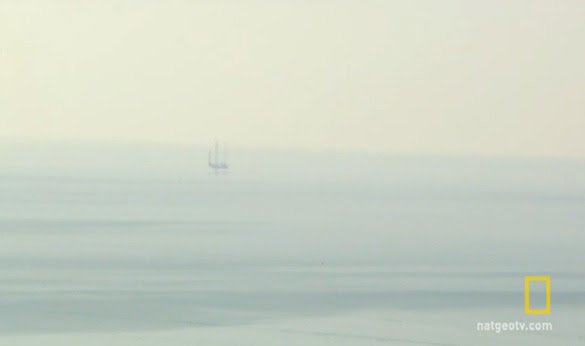 A still image of one of the oil rigs as seen by the investigators on Chasing UFOs. (Credit: National Geographic)