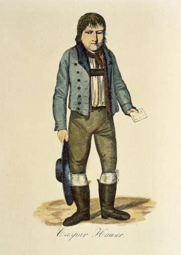 Kaspar Hauser, en un grabado de época.