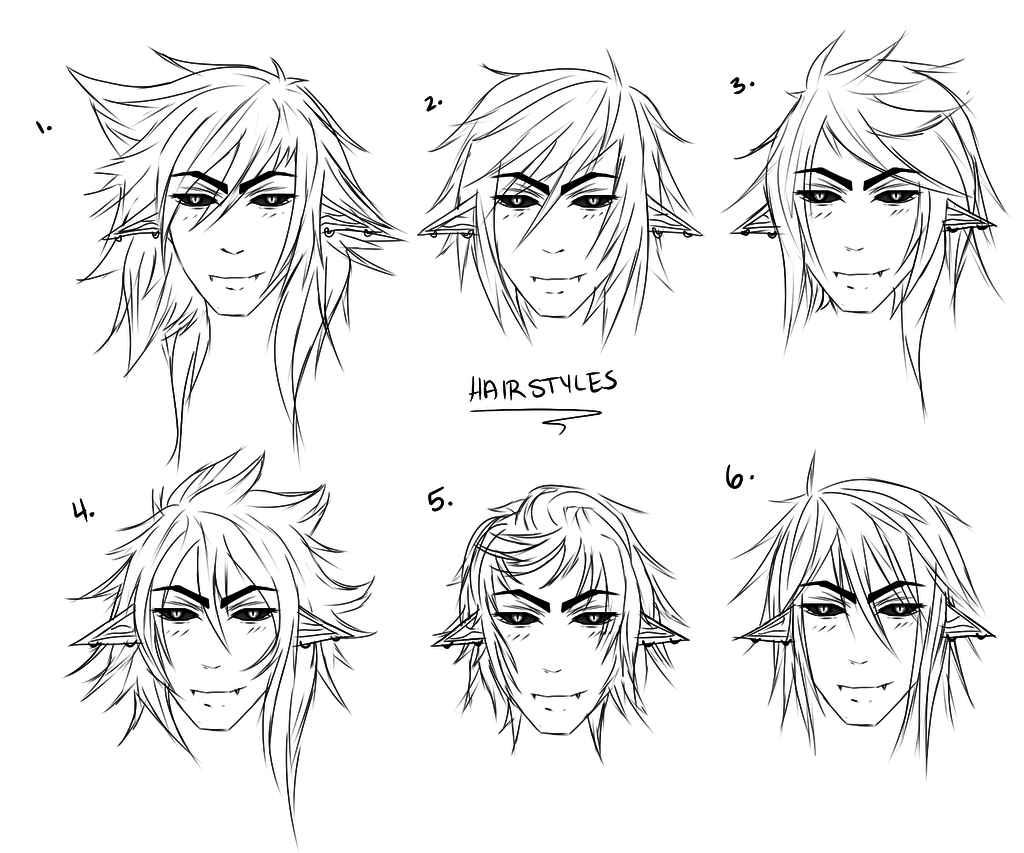 Anime Male Hair Drawing at GetDrawings | Free download
