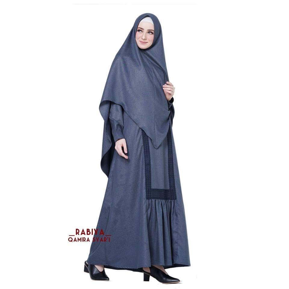Gamis  batik wanita  terbaru  2019  kombinasi Almeera Syari by