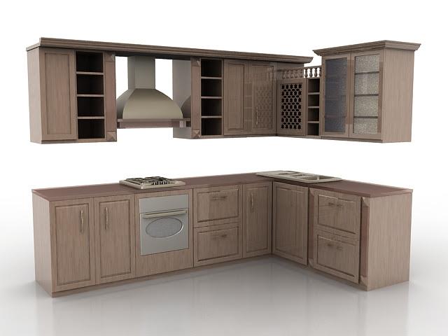 Vintage rustic kitchen design 3d model 3ds max files free ...