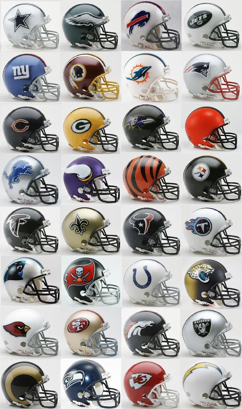 SET OF 32 ALL 32 CURRENT NFL RIDDELL REPLICA MINI FOOTBALL HELMETS  eBay