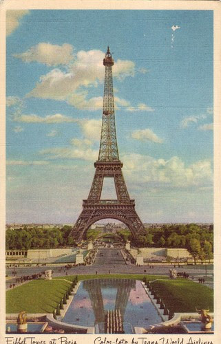 Eiffel Tower at Paris - Color-foto by Trans World Airlines by Jasperdo.