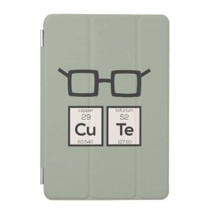 Cute chemical Element Nerd Glasses Zwp34 iPad Mini Cover
