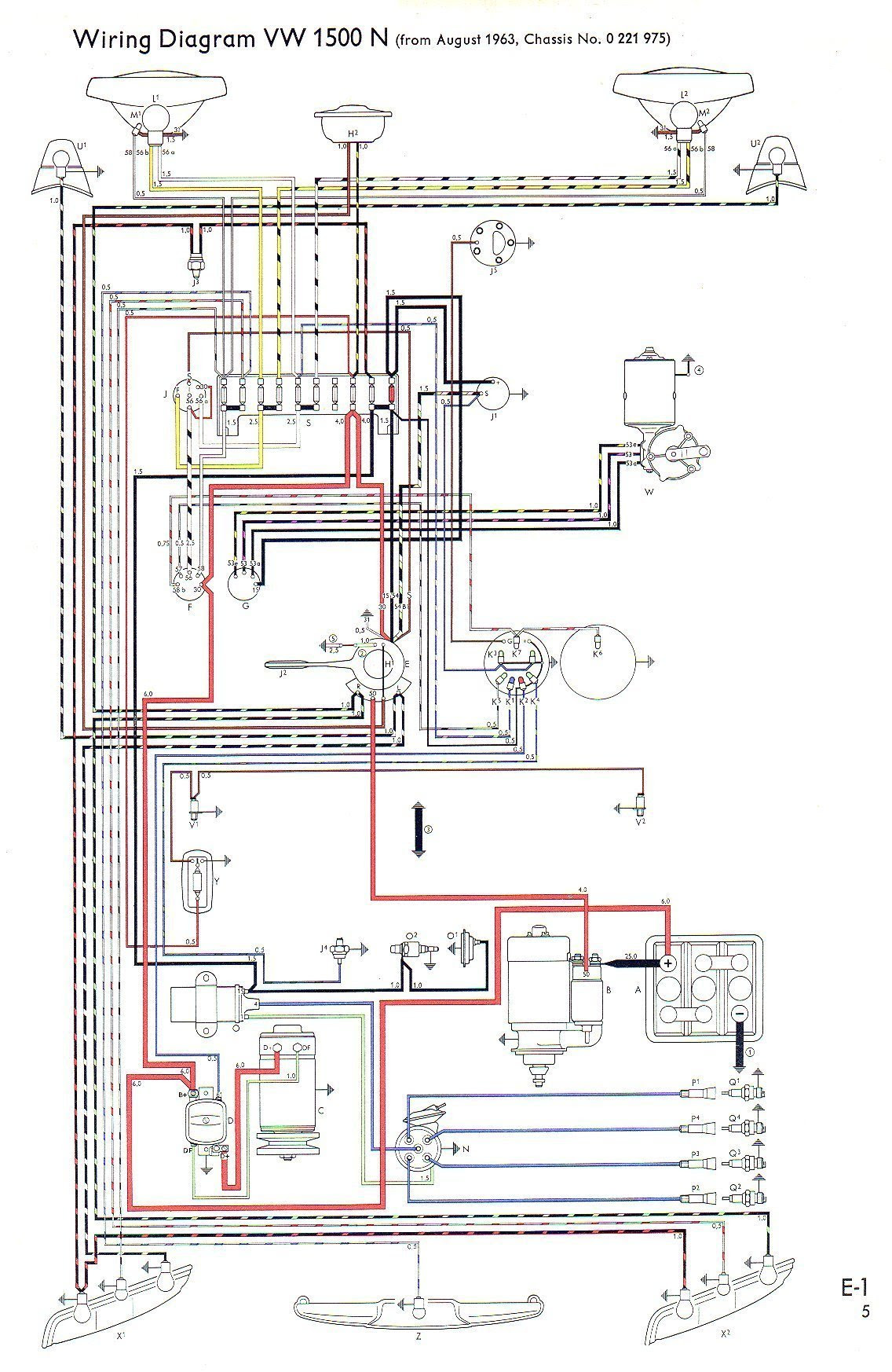 71 Vw Type 3 Wiring Diagram Wiring Diagram Central1 Central1 Bujinkan It