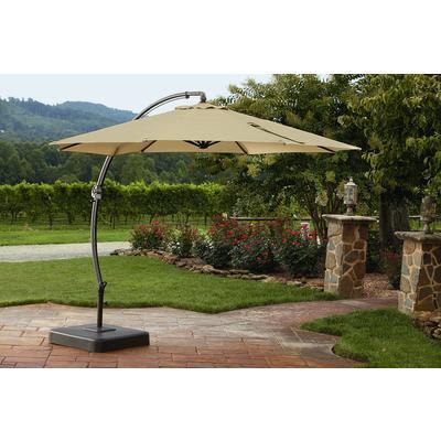 Garden Oasis 11.5ft Steel Round Offset Umbrella w/Base ...
