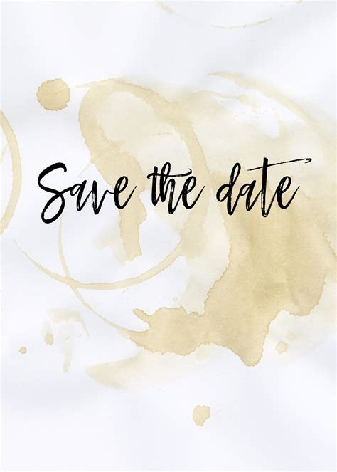 The Perfect Blend Save the Date Card : Free Wedding