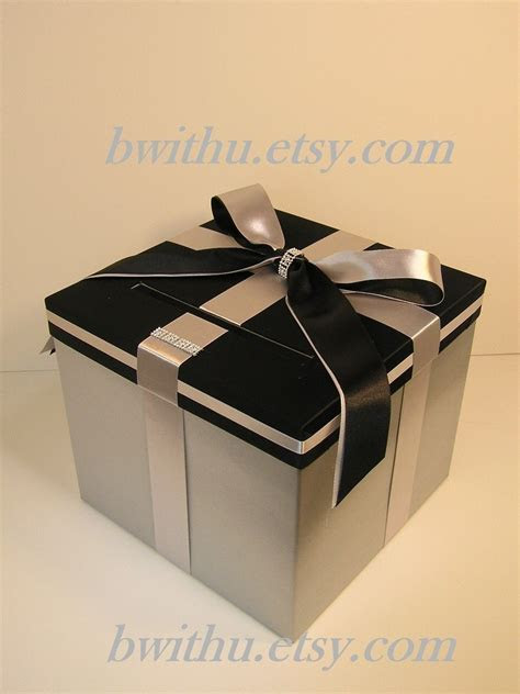 Wedding /Quinceañera/Sweet 16 Card Box Silver and Black