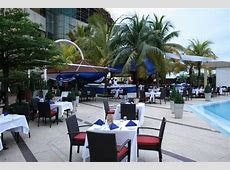 Great wedding venue for intimate outdoor Nigerian wedding. Nice palm trees and pool. Eko Hotel
