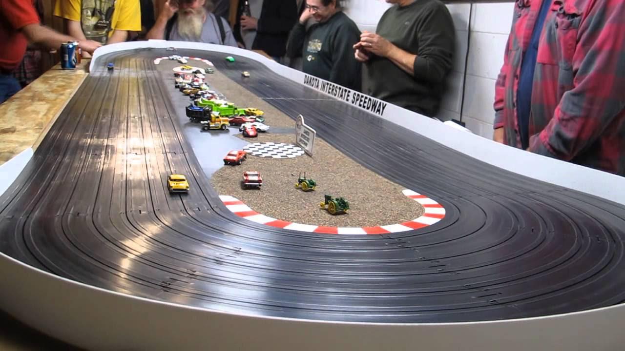 Slot car racing video
