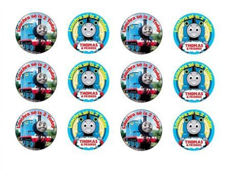 Thomas The Tank Engine And Friends Cupcake Toppers For