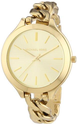 Video Review Michael Kors Slim Runway Champagne Dial Gold