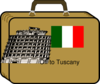 Italy Suitcase  Clip Art
