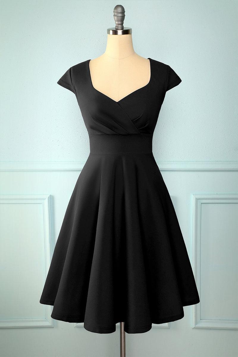 schwarzes kleid einfarbig