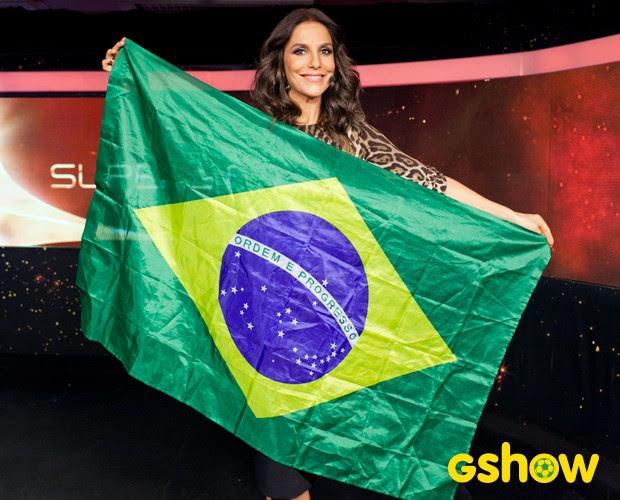 Ivete Sangalo bastidores Top 8 (Foto: Dafne Bastos/TV Globo)