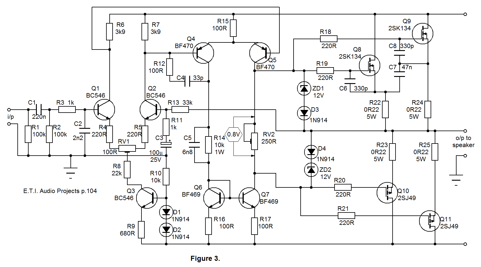 Full Diagram For Amplifier Circuit Images Class Ab 12v Mosfet