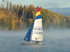Hobie Cat on Big Lake Sept 2002