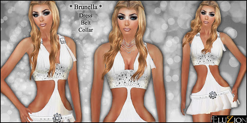 ELUZION _ Brunella - White DRESS