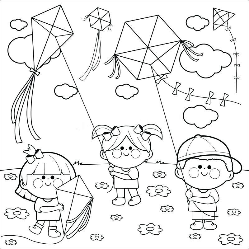 Printable Kite Coloring Page at GetDrawings   Free download