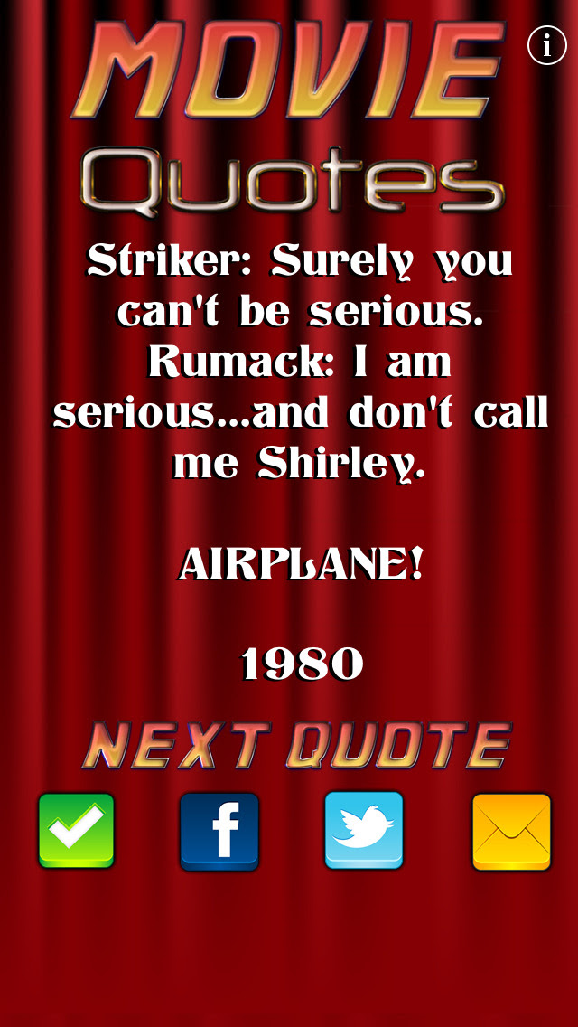 Movie Quotes FREE  Free Download Ver:2.0 for iOS
